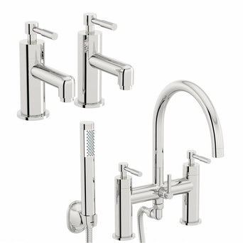 Secta Basin Taps and Bath Shower Mixer Pack
