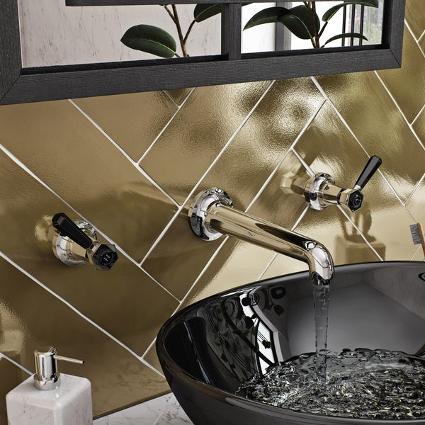 The Bath Co. Beaumont lever wall mounted basin mixer tap offer pack