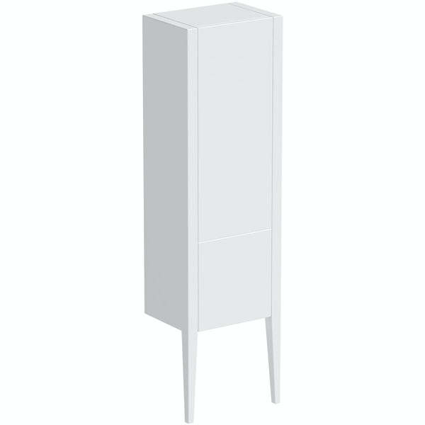 Mode Hale white gloss furniture package with vanity unit 600mm
