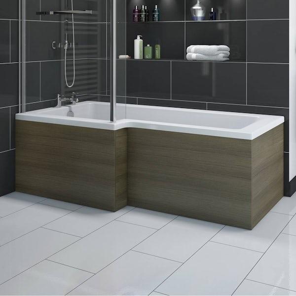 Boston Walnut Shower Bath Side Panel 1500