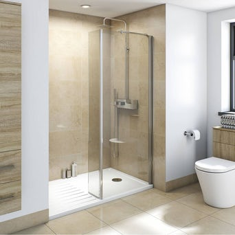8mm Walk in Recess Shower Enclosure Pack 1400 x 900 with Shower tray