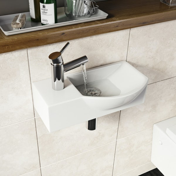 Orchard Lugano 1 tap hole basin 410mm