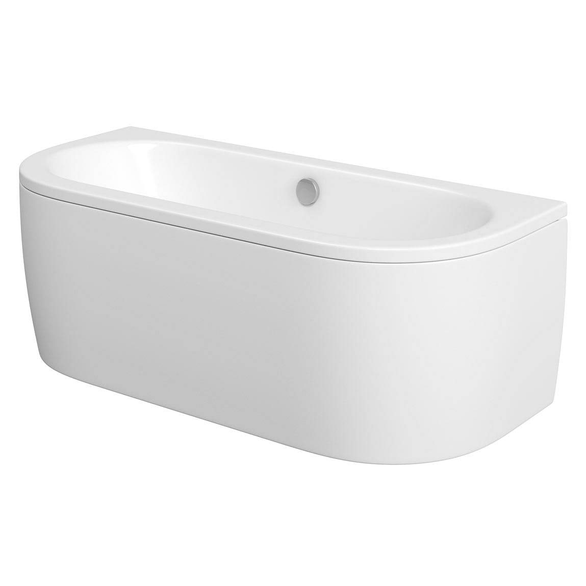 Mode Cayman D shaped double ended back to wall bath