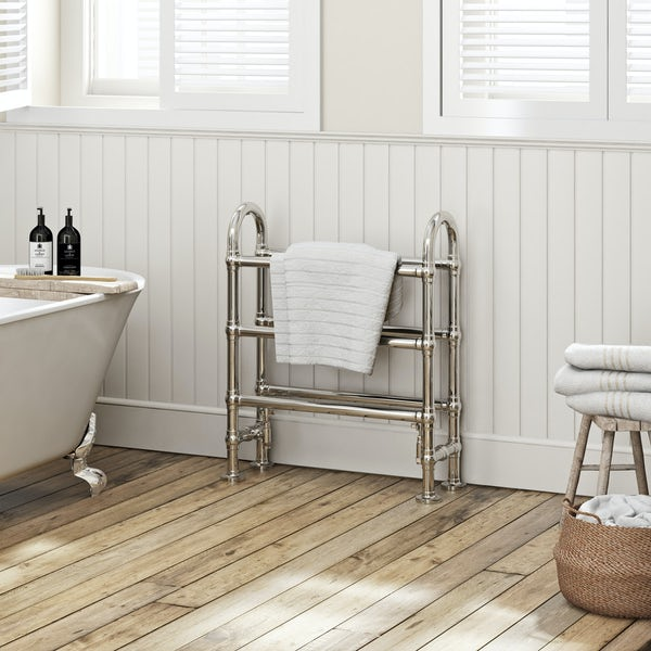 The Bath Co. Camberley traditional heated towel rail 778 x 686