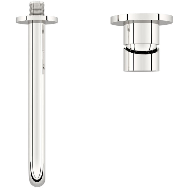Mode Spencer round wall mounted basin mixer tap offer pack