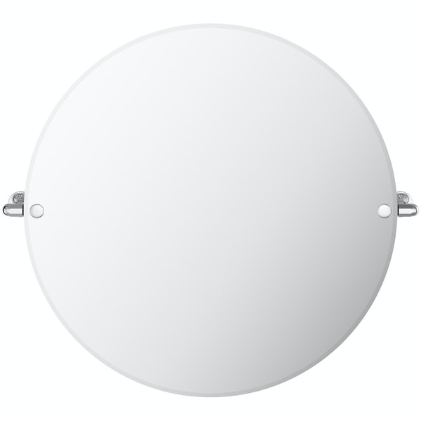 The Bath Co. Traditional round pivot mirror
