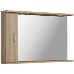 Sienna oak bathroom mirror with lights 1200mm