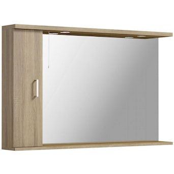 Sienna Oak 1200 Mirror with lights Special Offer