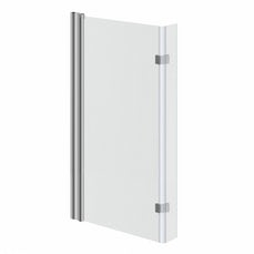 Image of Frameless Hinged Square Shower Bath Screen