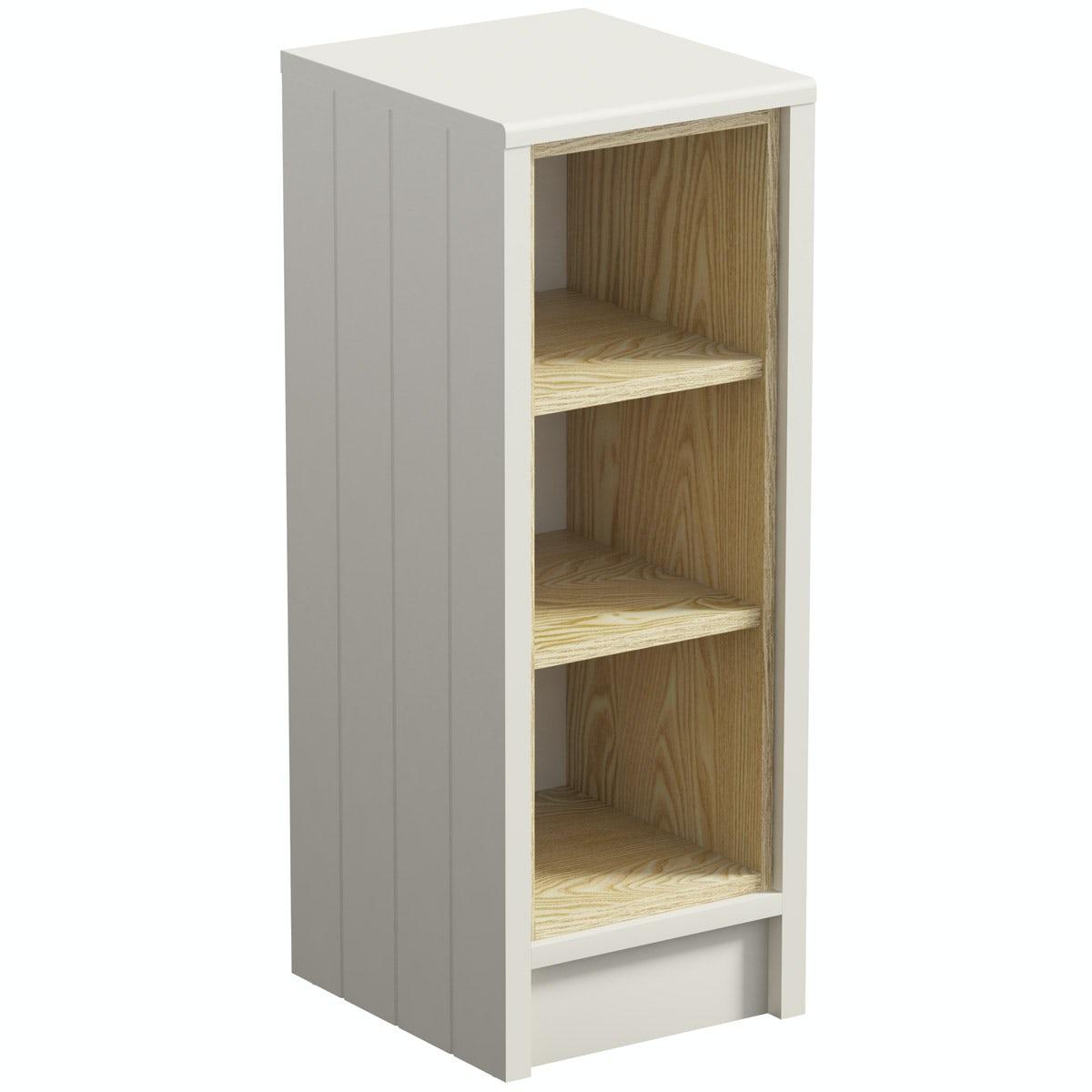 The Bath Co. Dulwich stone ivory open storage unit