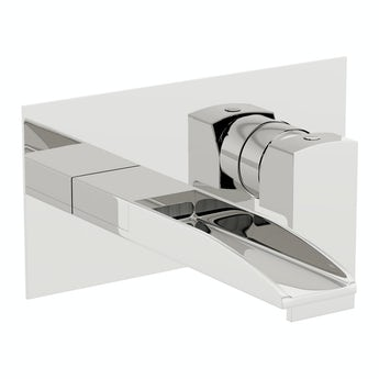 Mode Erskine wall mounted waterfall basin mixer tap offer pack