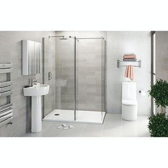 Mode Arte suite with luxury 8mm walk in shower enclosure and tray