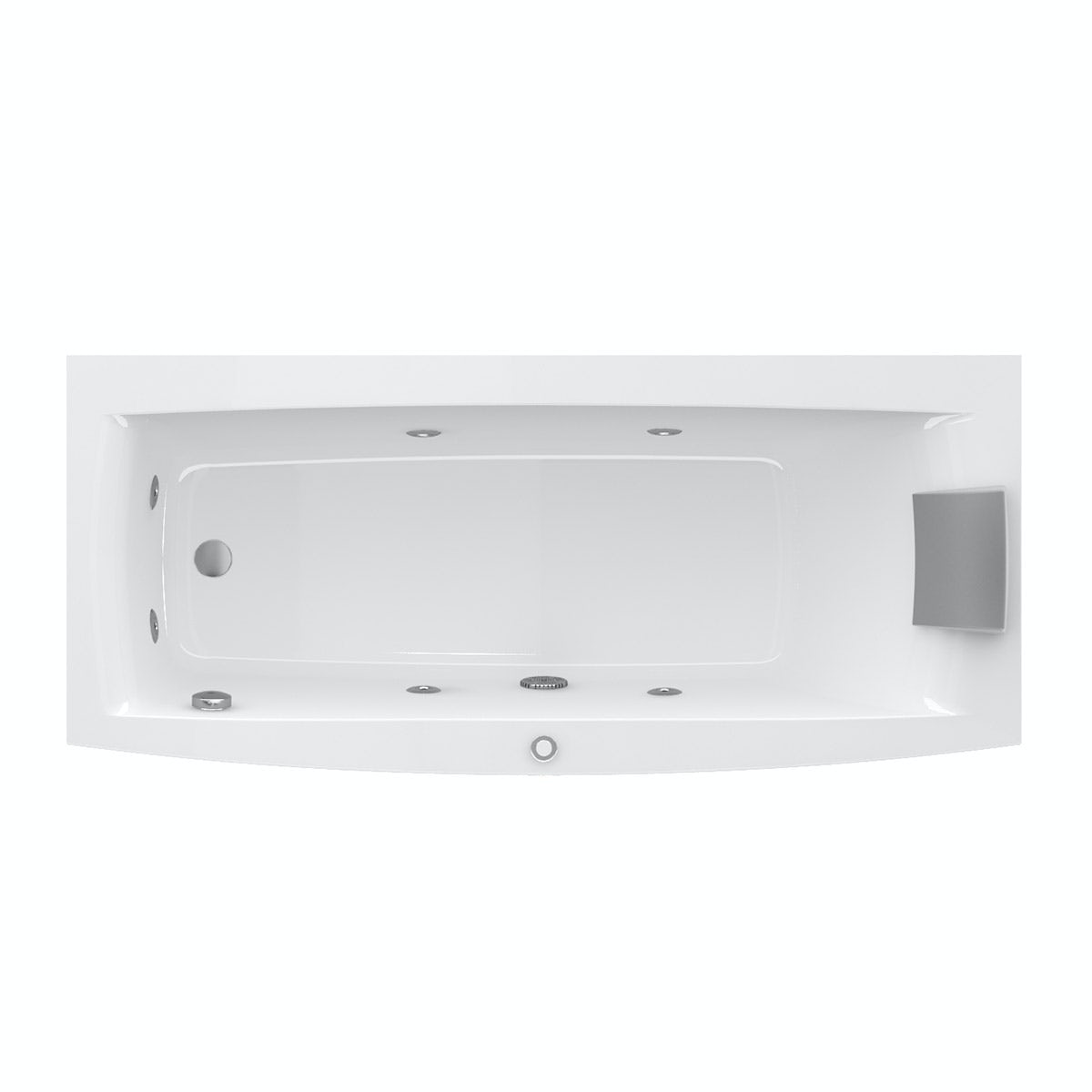 Jacuzzi the Essentials right handed single end whirlpool bath