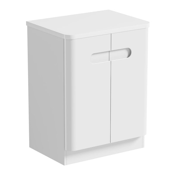Mode Ellis white countertop door unit 600mm with Calhoun basin