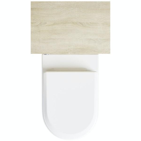 Eden oak back to wall toilet unit