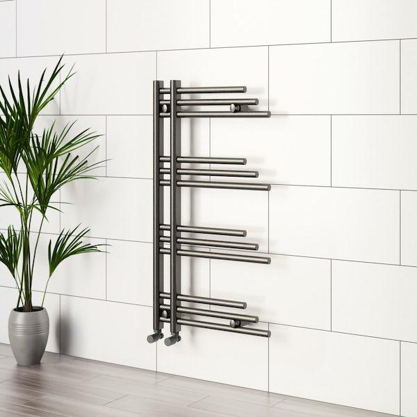 Mode Harrison anthracite heated towel rail 950 x 500