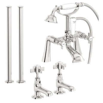 The Bath Co. Dulwich basin tap and bath shower mixer standpipe tap pack