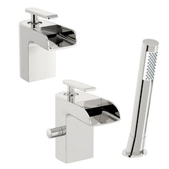 Mode Reinosa basin and bath shower mixer tap pack