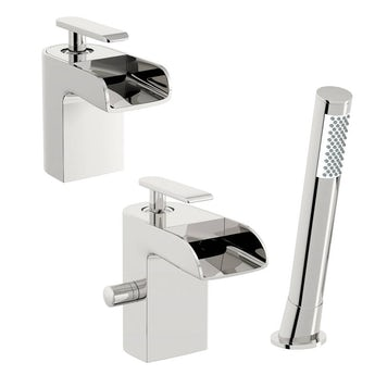 Mode Reinosa basin and bath shower mixer tap pack