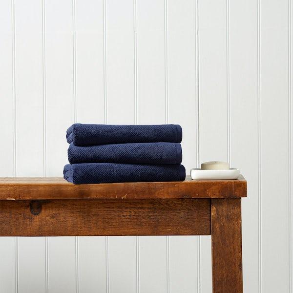 Christy Brixton midnight hand towel