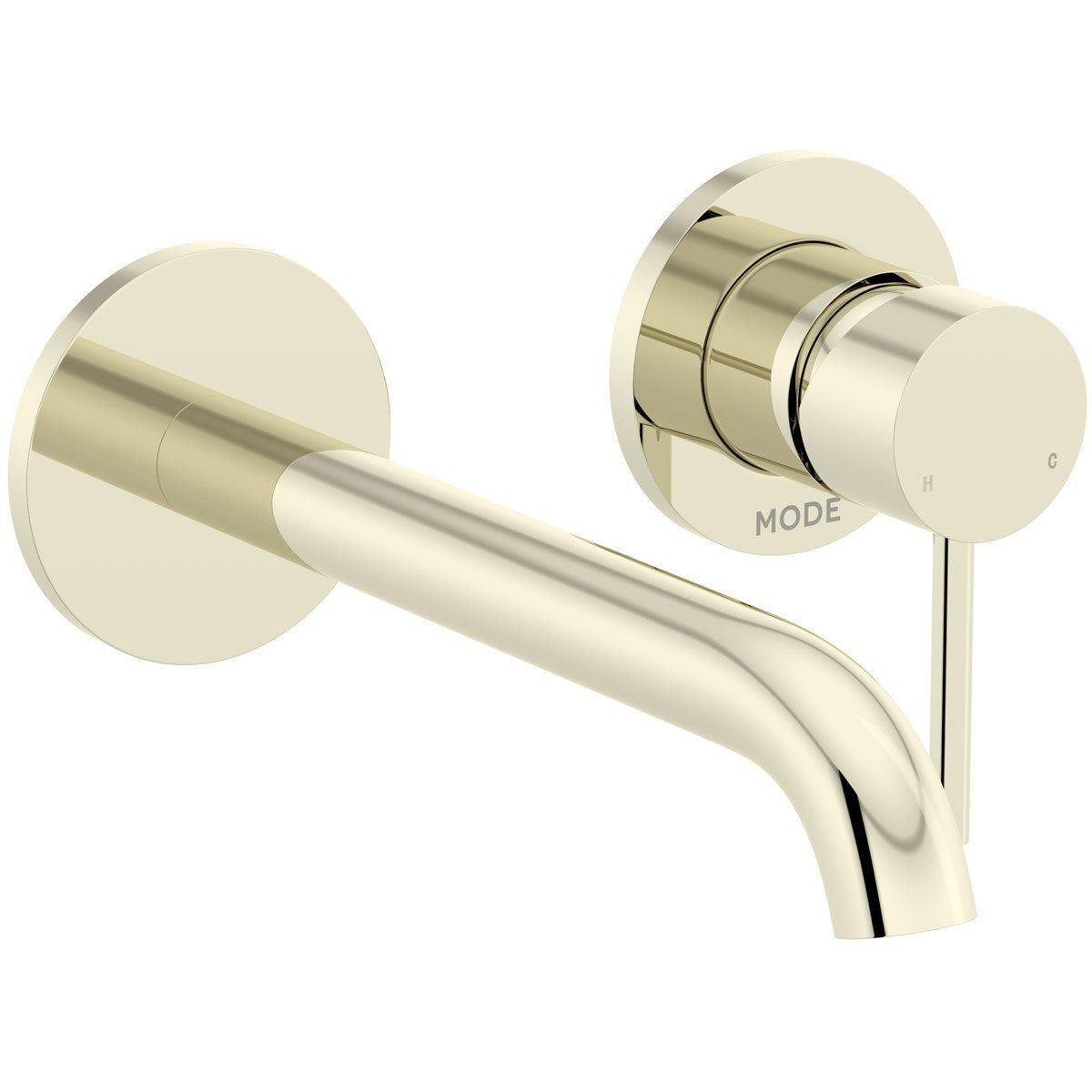 Mode Spencer round wall mounted gold bath mixer tap offer pack