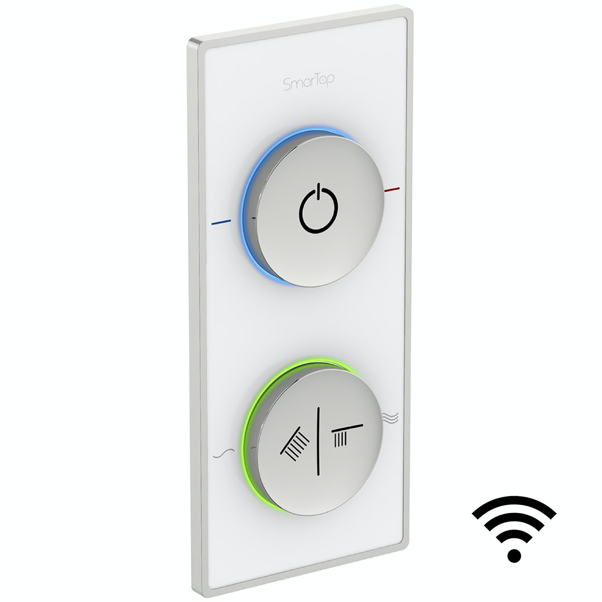 SmarTap smart shower system with white dual controller