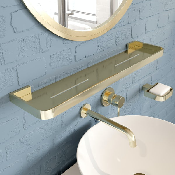 Mode Spencer gold bathroom shelf