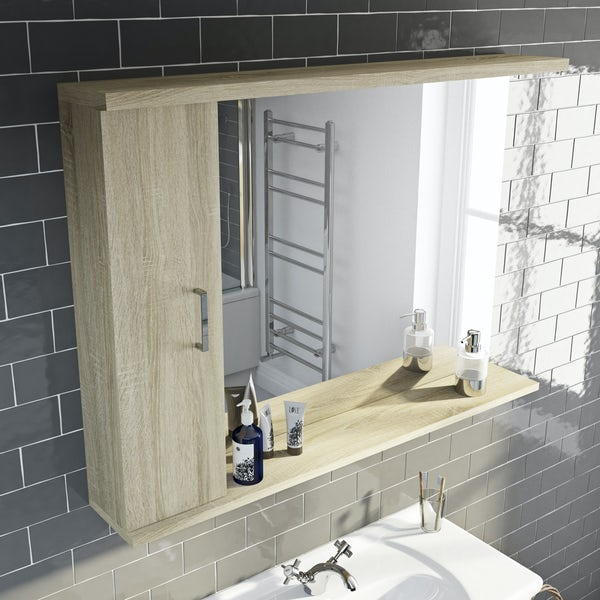 Eden oak illuminated mirror 1050mm