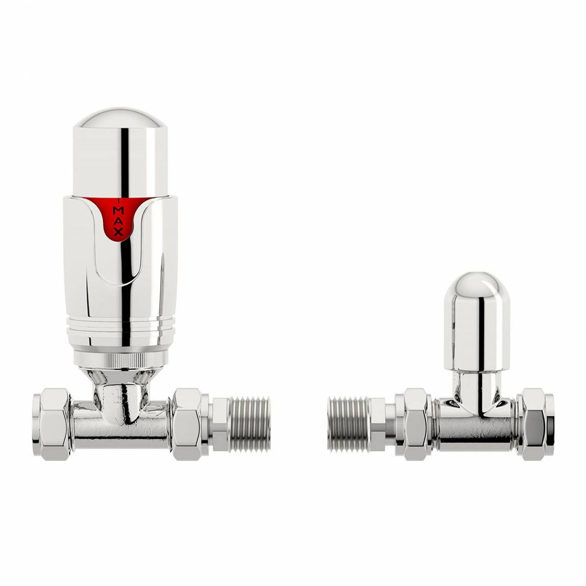 Orchard Thermostatic chrome straight radiator valves