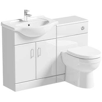 Eden white 1140 combination with Eden back to wall toilet