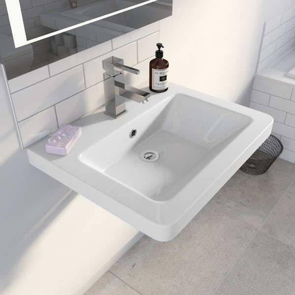 Cooper 1TH 600mm Wall Hung Basin