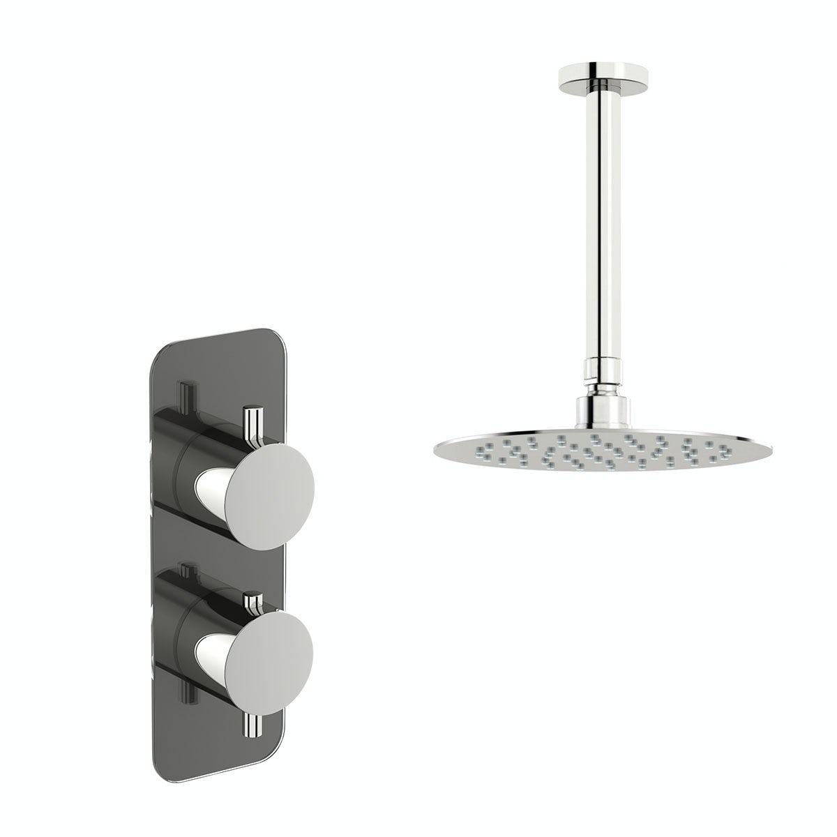 Mode Heath thermostatic shower valve with ceiling shower set