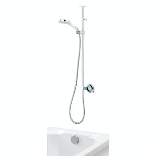 Aqualisa Q exposed digital shower pumped with bath filler