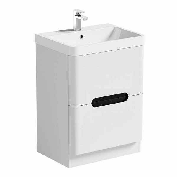 Mode Ellis essen vanity drawer unit and basin 600mm