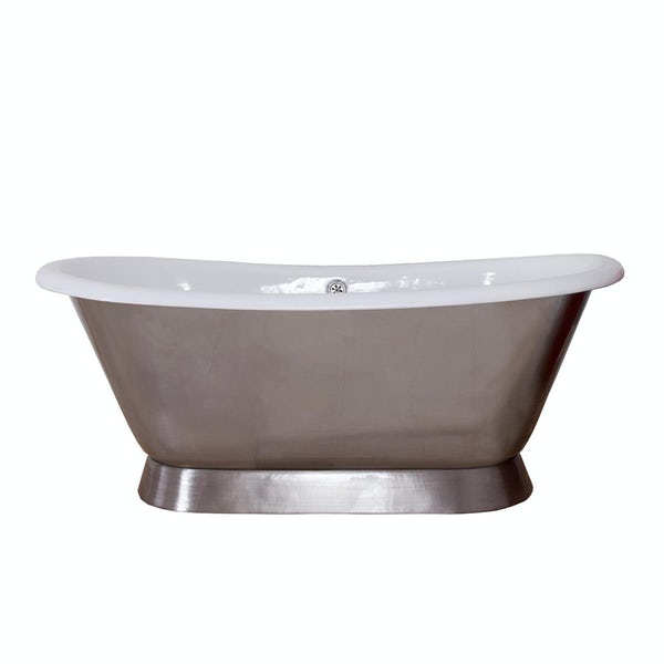 The Bath Co. Stirling polished cast iron bath