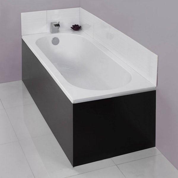 Wenge Effect Bath End Panel 700