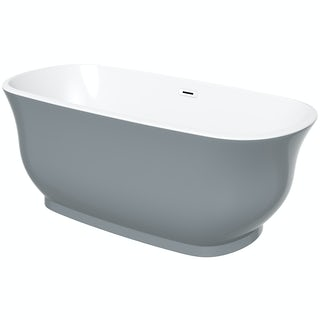 The Bath Co. Camberley storm coloured traditional freestanding bath