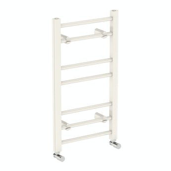 Clarity white heated towel rail 700 x 400 offer pack