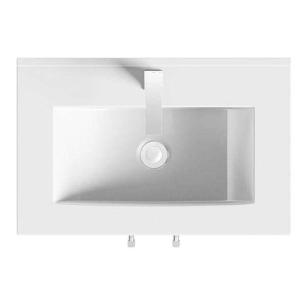 Derwent vanity door unit and basin 600mm
