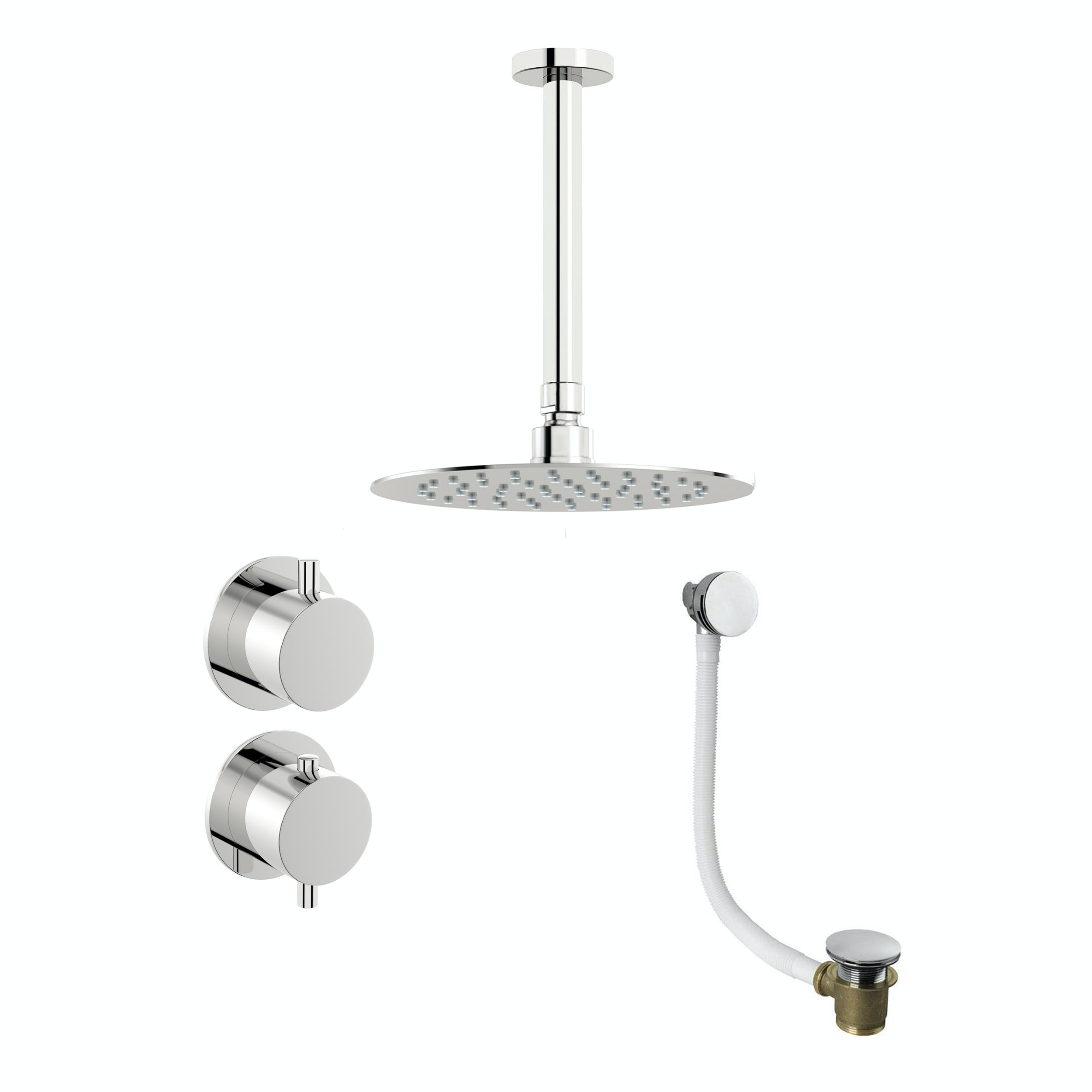Mode Hardy thermostatic shower valve with ceiling shower bath set