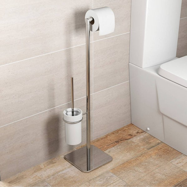 Options White Toilet Accessory Set