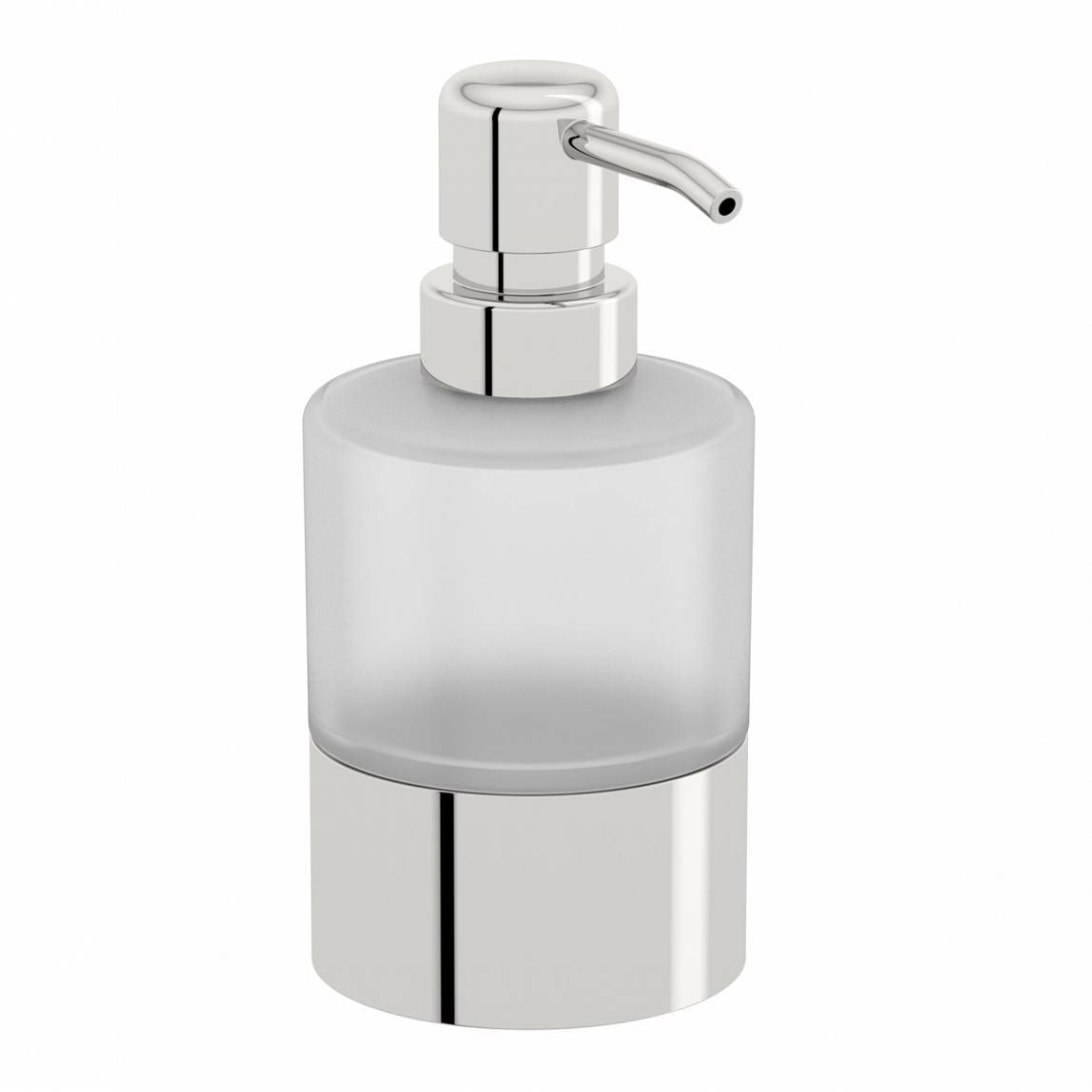 Options Freestanding Frosted Glass Soap Pump Dispenser