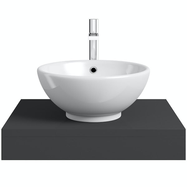 Mode Orion slate wall hung countertop basin shelf