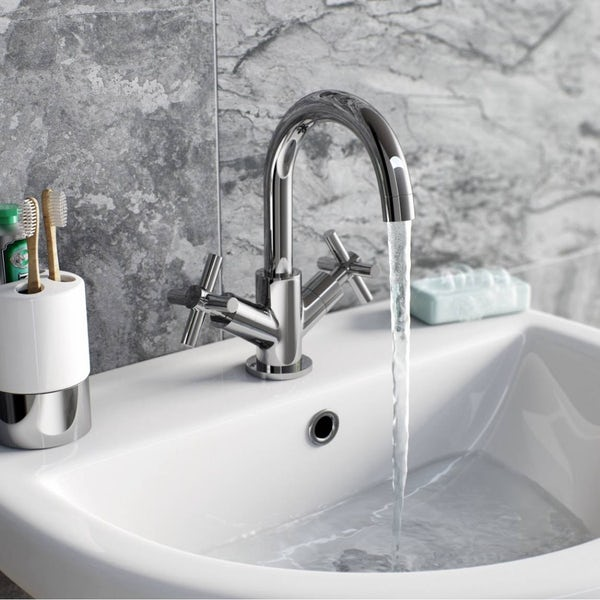 Mode Tate complete freestanding bath suite taps and wastes 1500 x 700