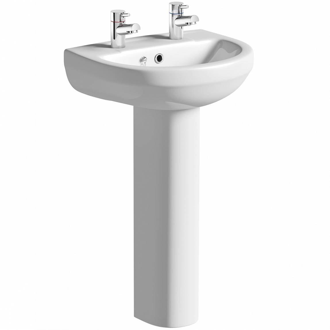 Orchard Eden 2 tap hole full pedestal basin