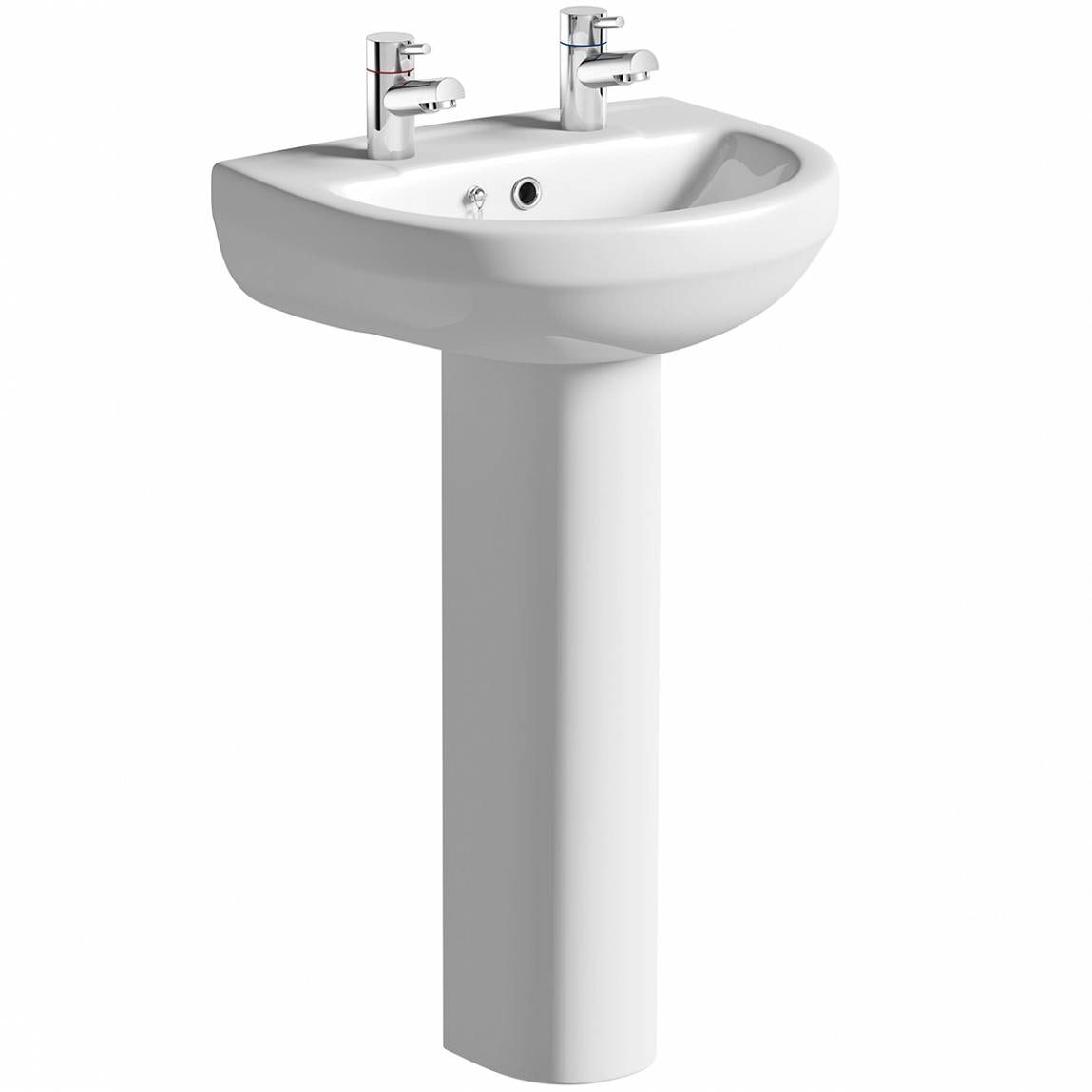 Orchard Eden 2 tap hole full pedestal basin 500mm