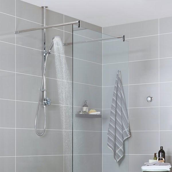 Aqualisa quartz exposed digital shower standard