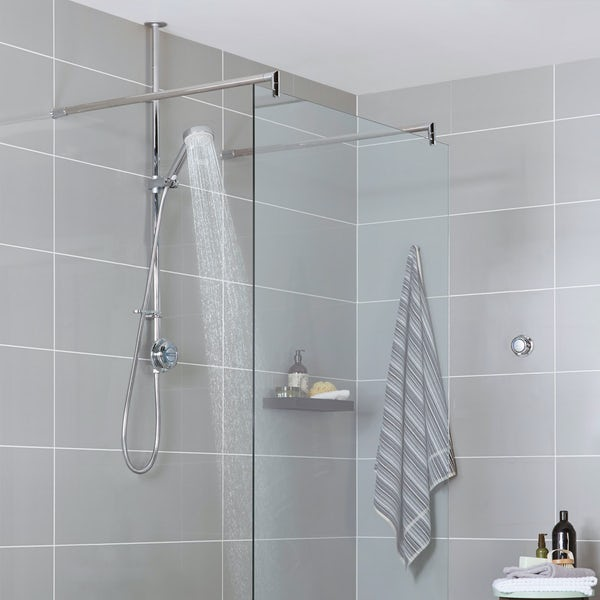 Aqualisa quartz exposed digital shower standard
