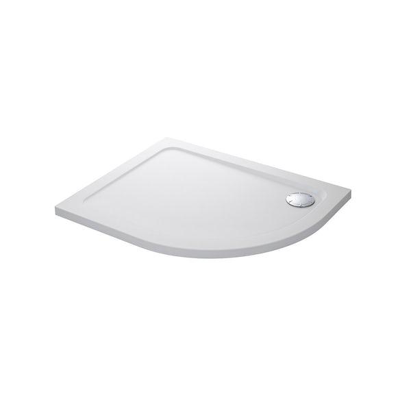 Mira Flight Safe low level anti-slip left handed quadrant shower tray 1200 x 900
