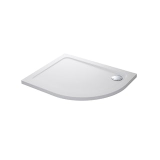 Mira Flight Safe low level anti-slip left handed quadrant shower tray 1200 x 900